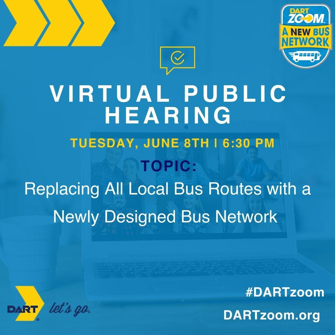 DARTzoom A New Bus Network Virtual Public Hearing