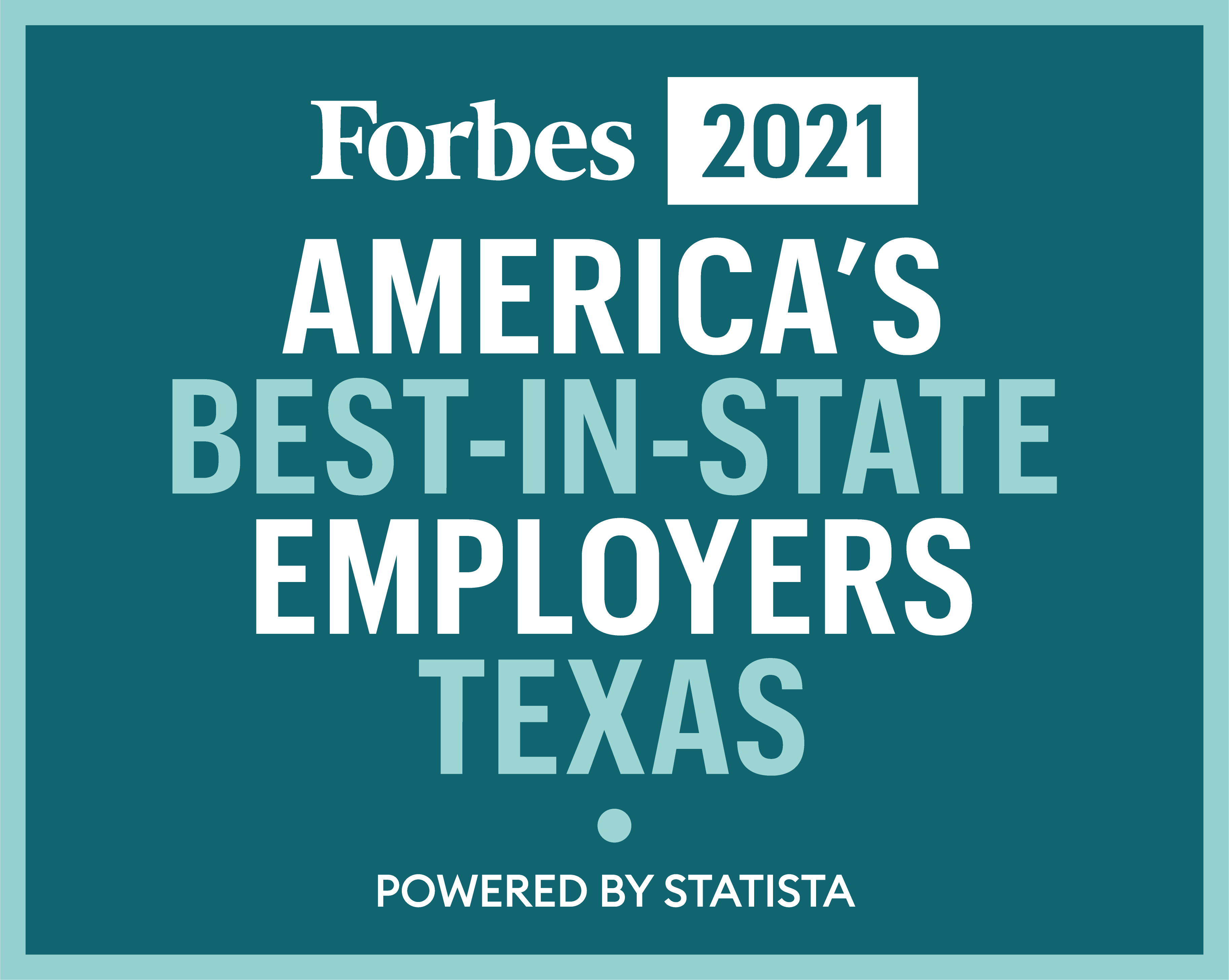 2021 Forbes Best In State Employers in Texas