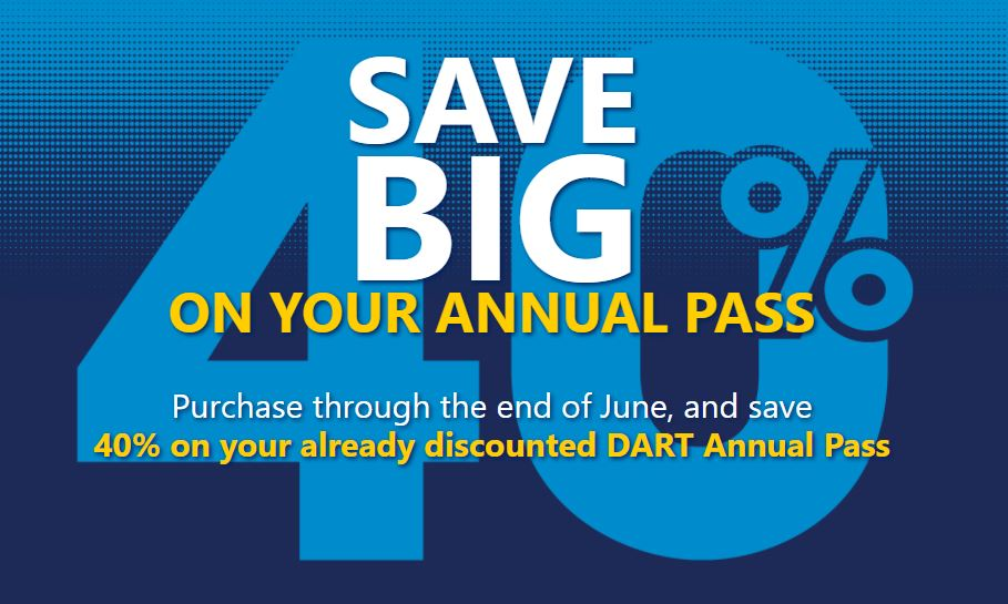 DART Annual Pass 40 off May-June promo