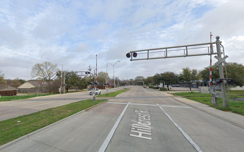 Hillcrest Road at Silver Line tracks