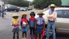 Kids at Texas Black Invitational Rodeo