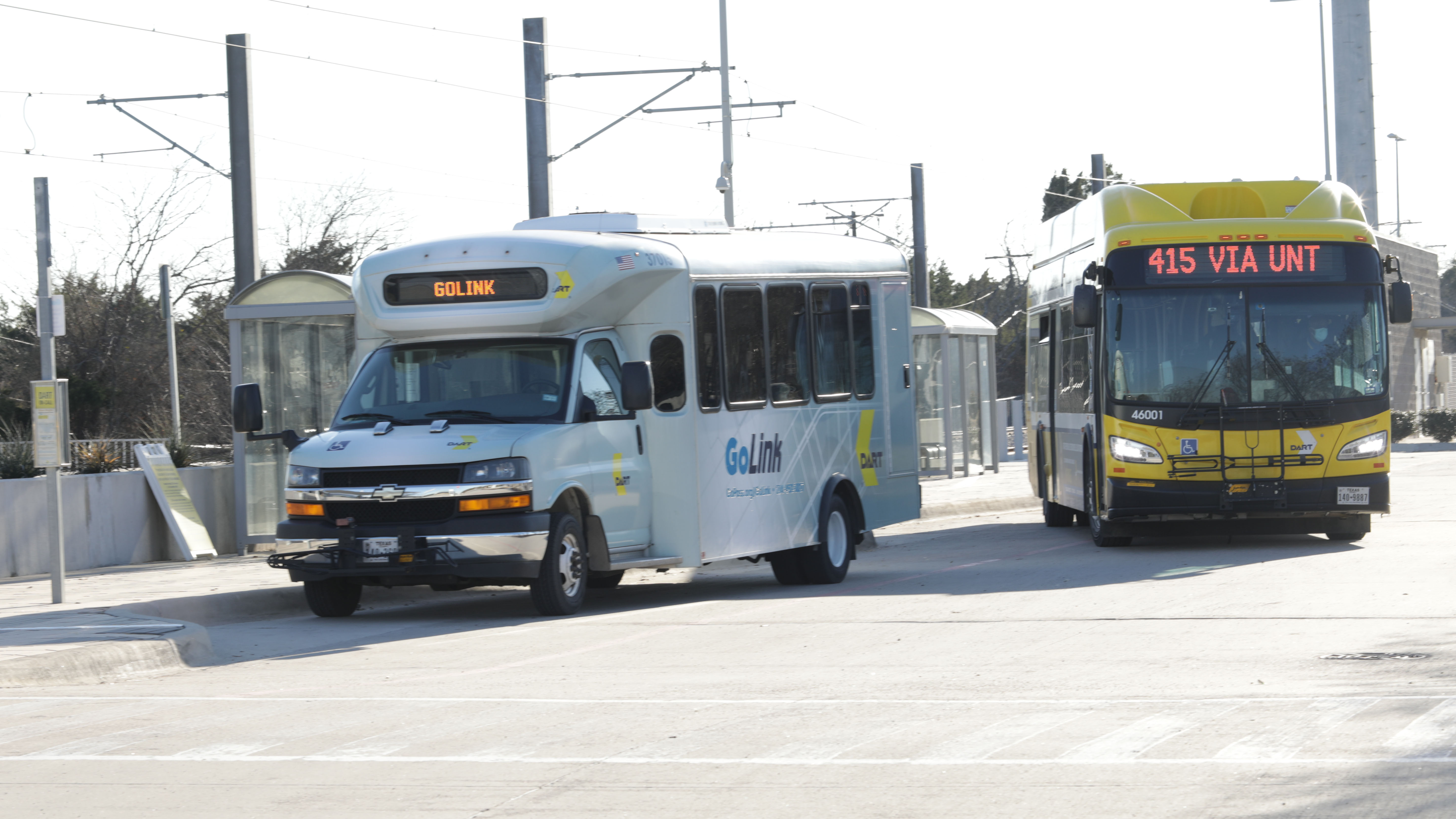 UNT Dallas Station - GoLink and DART bus