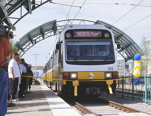 DART Rail Arrives at Galatyn Park Station