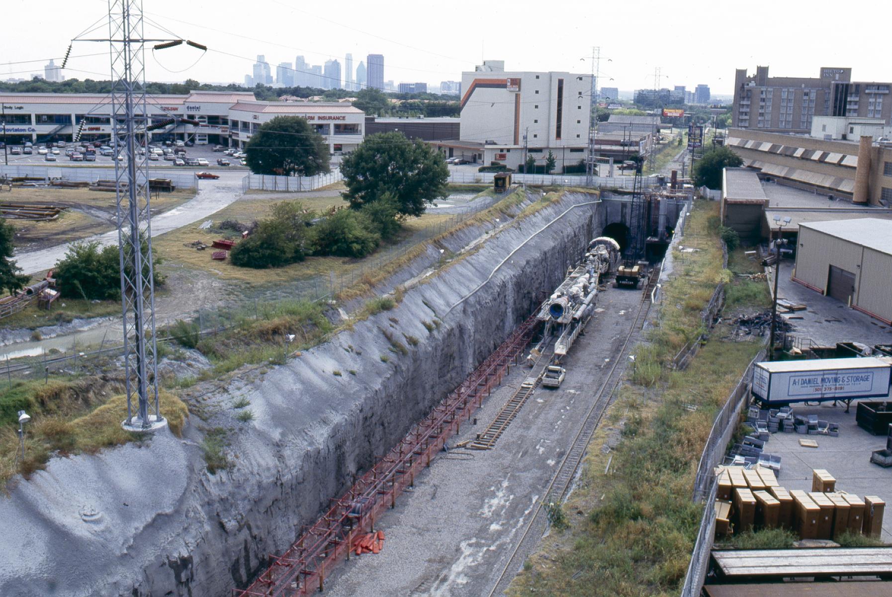 DART SMU Mockingbird Station and tunnel construction