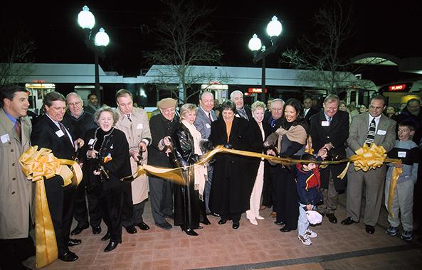 Plano ribbon cutting - DART Rail opening December 2002