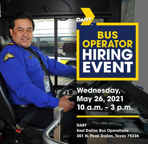 2021 DART Bus Operator May Job Fair