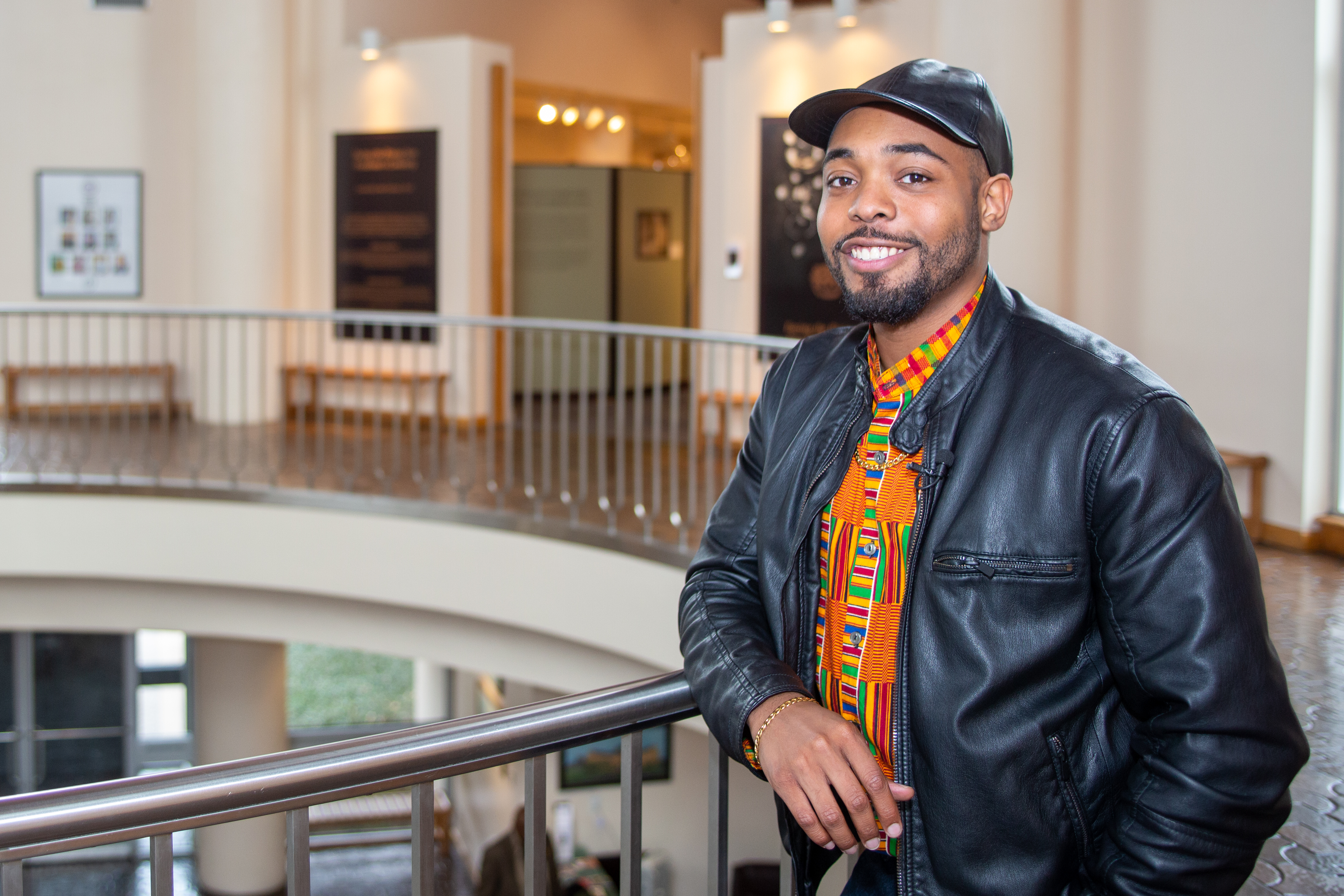 Social influencer, Reuben Lael, stands at the African American Museum in Fair Park February 13, 2020.