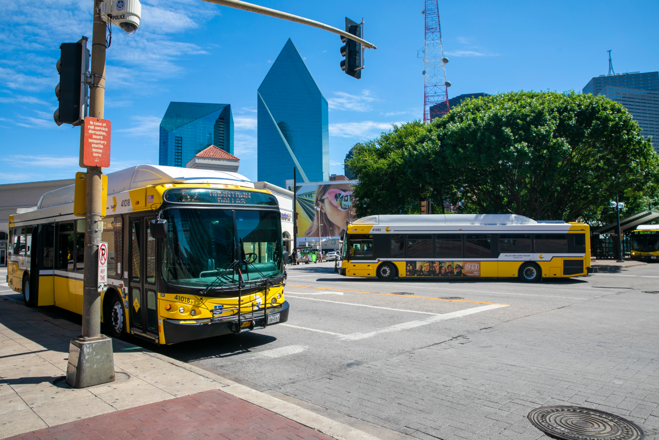 DART Bus at the Central Business District in Downtown Dallas