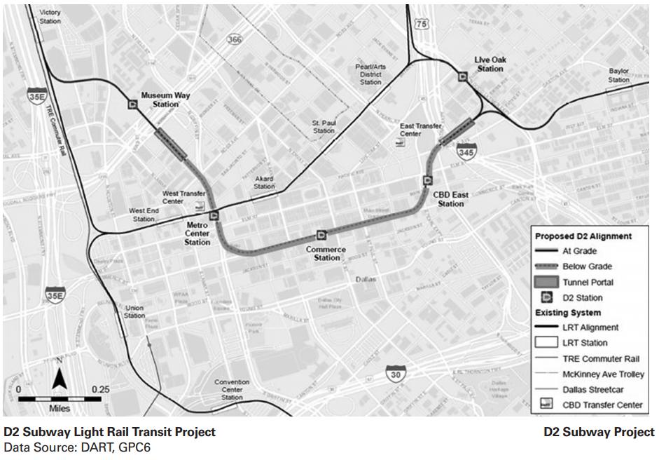 DART D2 Subway Light Rail Transit Project