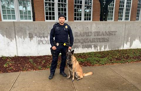 DART Police Sergeant Carter and canine Villy.