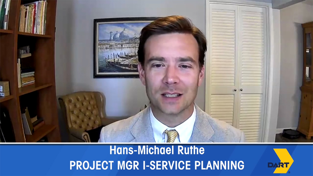 DART Project Manager I of Service Planning Hans-Michael Ruthe talks about the October 2020 proposed bus service changes.