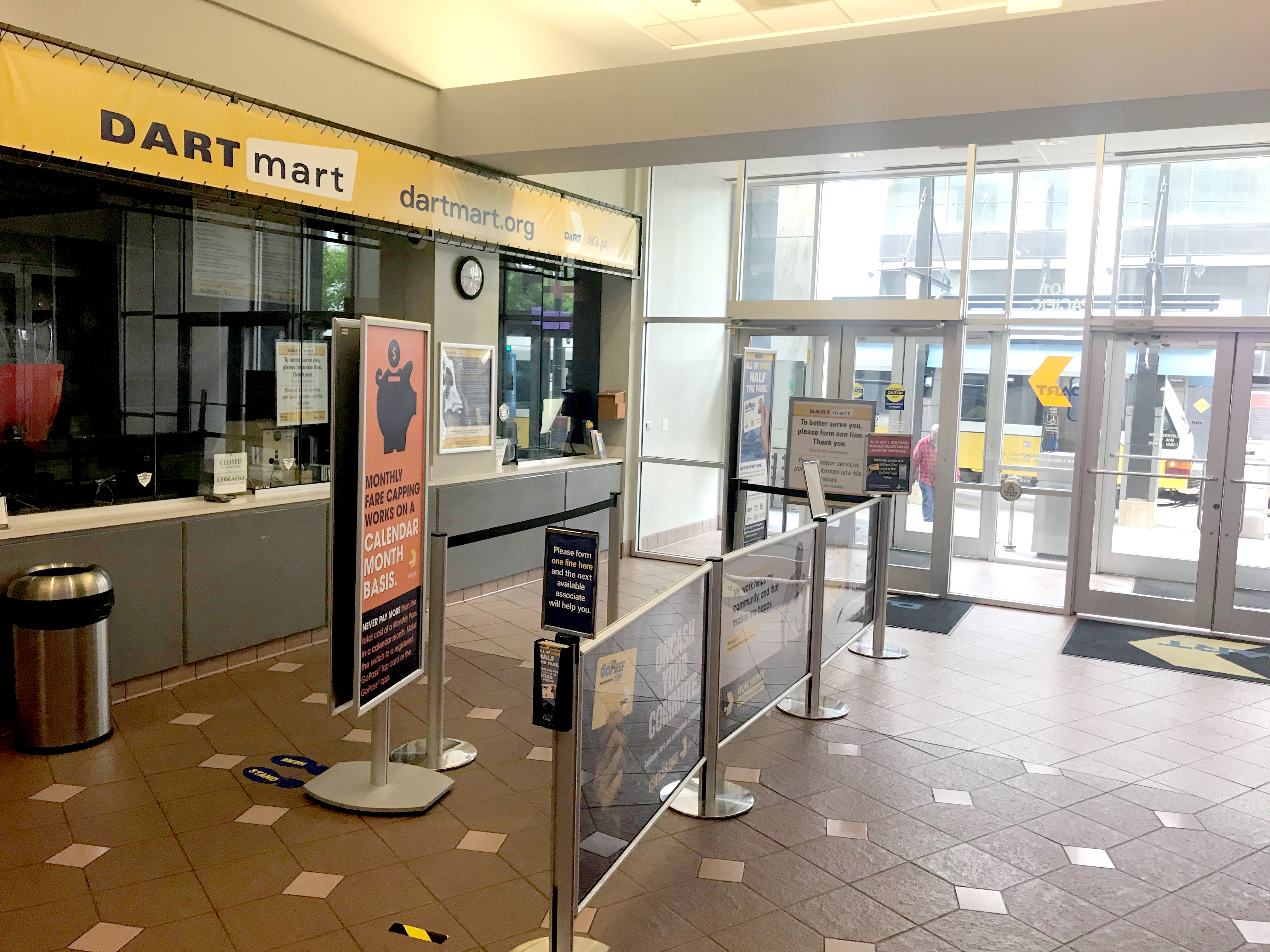 As of March 27, DARTmart's physical location is temporarily closed as a precaution against the spread of the coronavirus.
