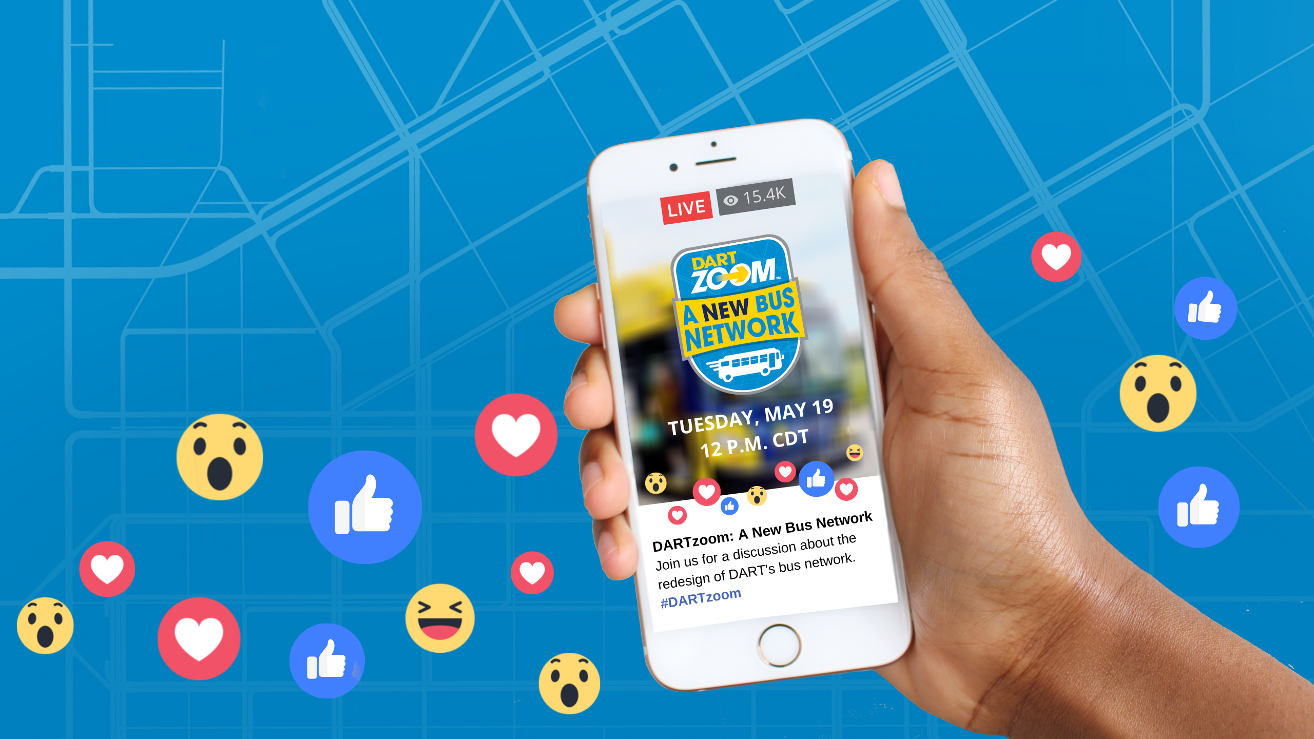 Join Us on Facebook Live to Discuss DARTzoom: A New Bus Network