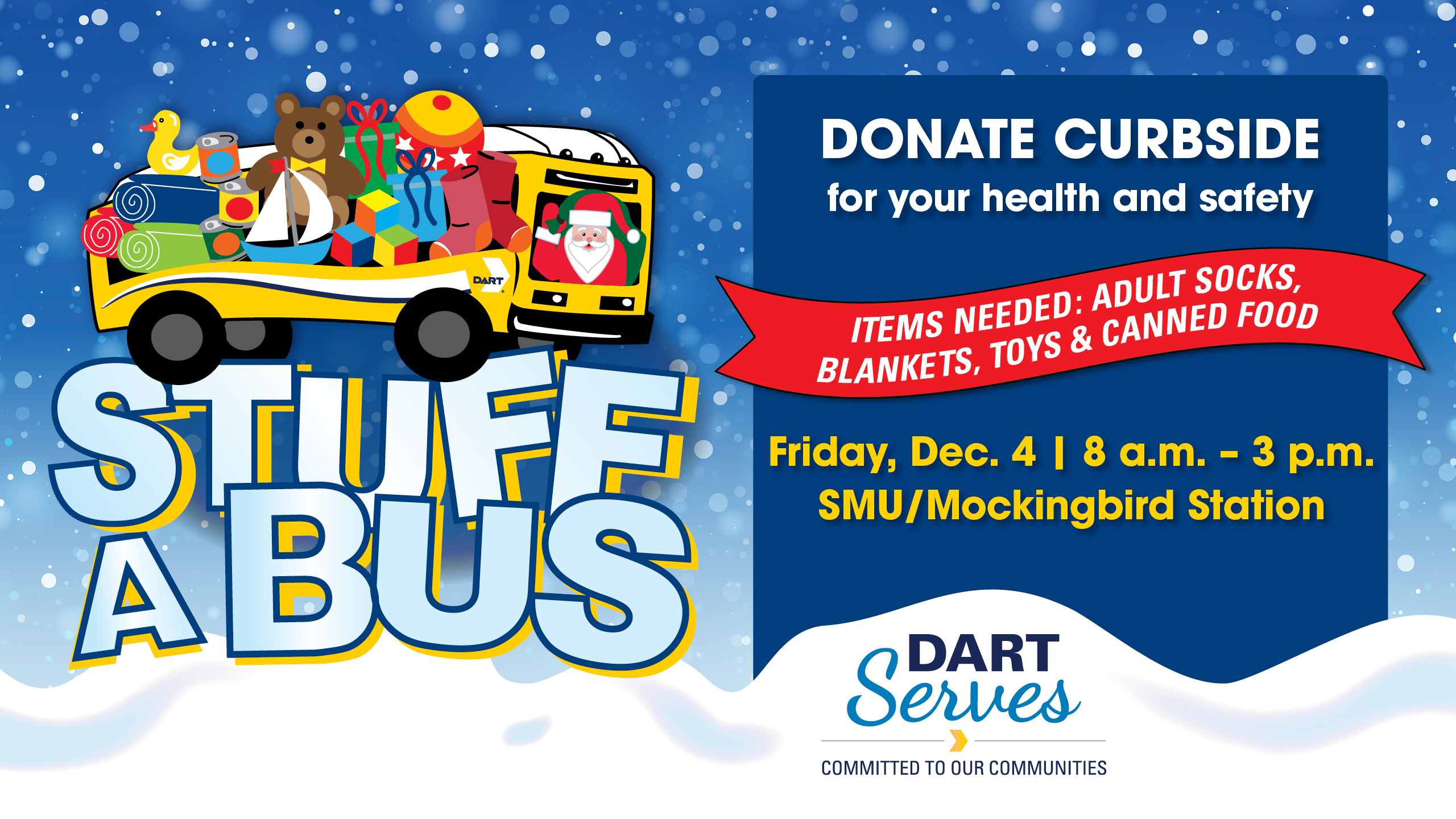 Help DART Stuff a Bus with a Curbside Donation