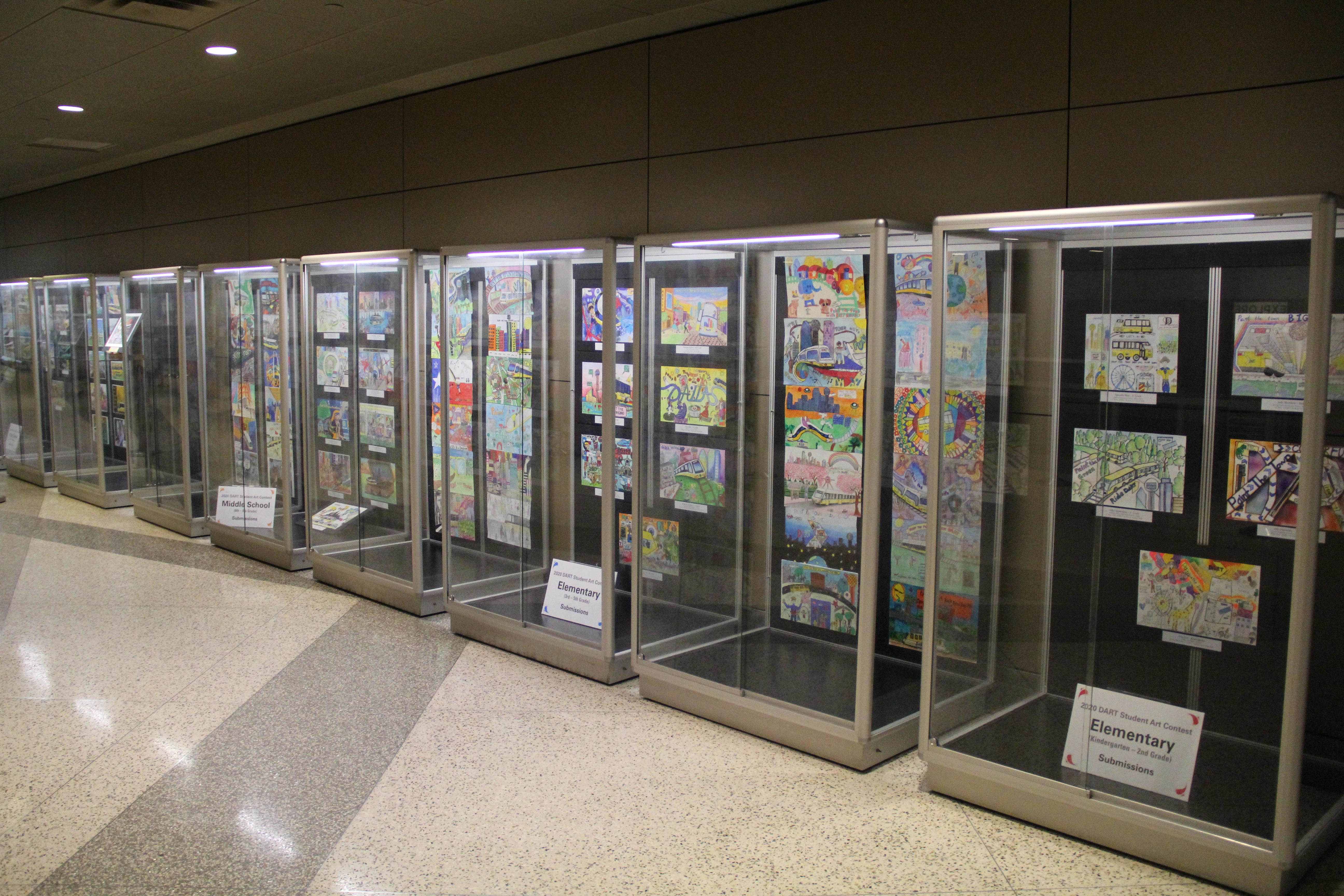 Dallas Love Field Displays 2020 DART Student Art Contest Pieces Through August