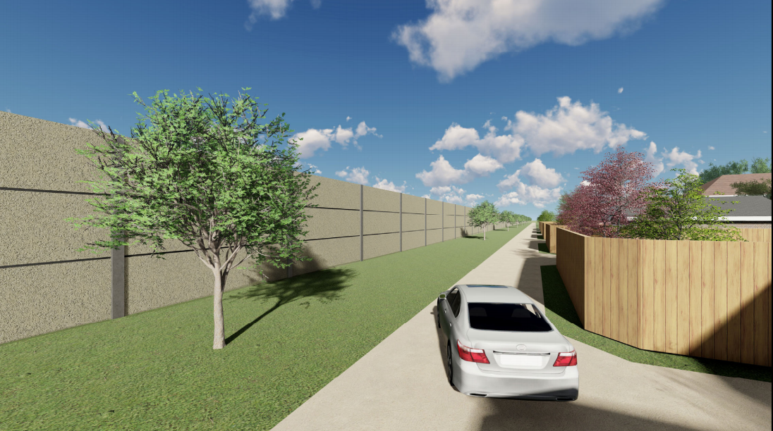 Rendering of Possible Silver Line Betterment Wall Design